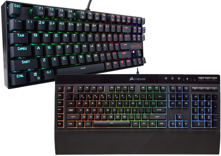 Redragon K552 vs Corsair K55 | Gamepol com
